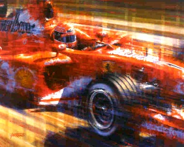 Original Paintings - Motor Racing Art